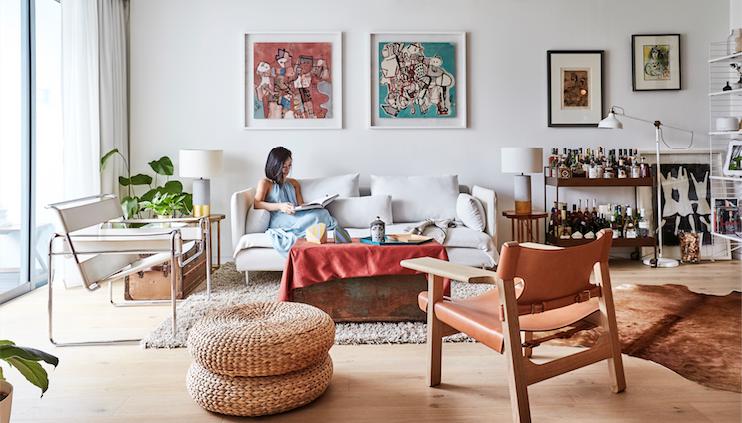 房游:四居室公寓,白色为主,个性鲜明。