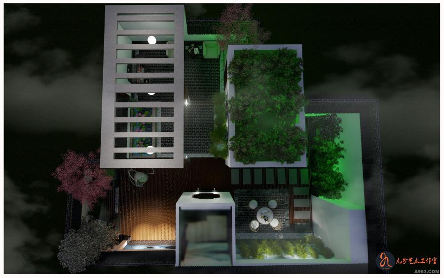 静谧而朴质的屋顶花园