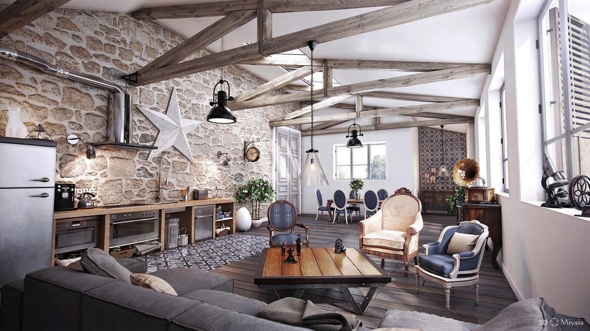 详细指南和设计乡村客厅的灵感