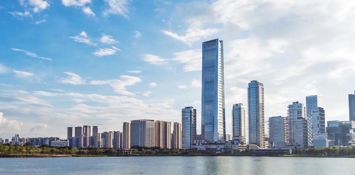 深圳湾一号T7写字楼入口艺术设计