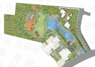 """长沙中航""""山水间""""公园景观设计"""