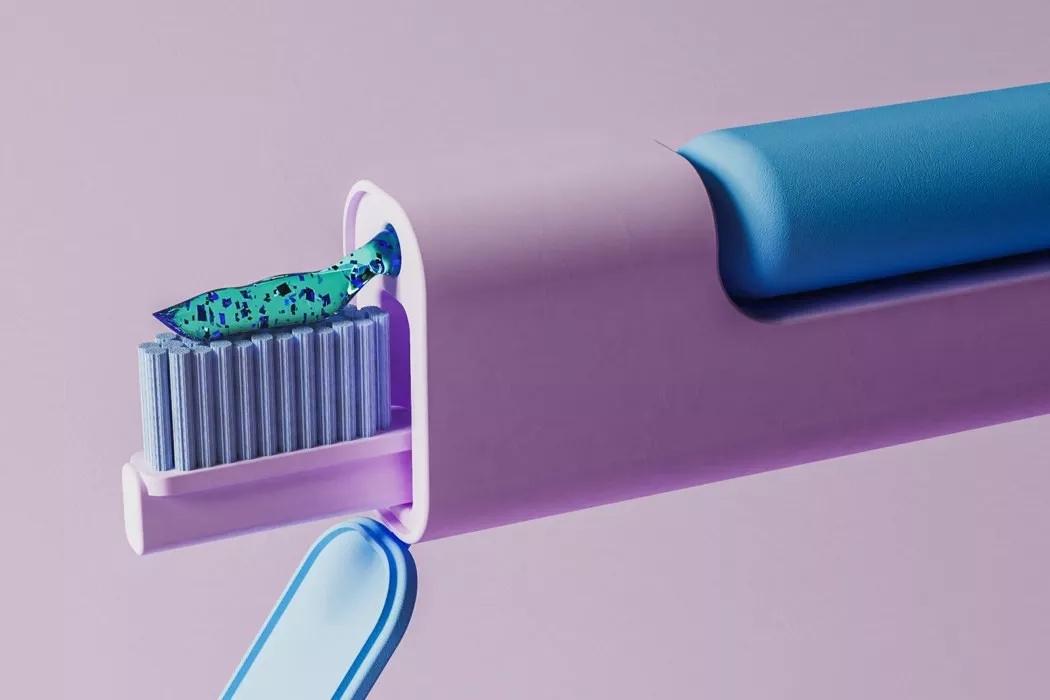 牙刷与牙膏二合一