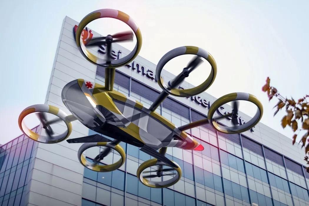 空中救援无人机,解决交通堵塞问题