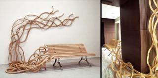 独一无二的意大利面长椅设计