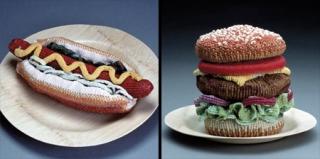 Ed Bing Lee的针织食品艺术作品
