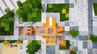 """广州万科云城""""像素社区"""":Tetris广场景观设计"""