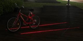 科技带来便利之激光自行车道
