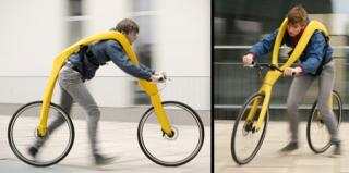 这辆自行车不是用来骑的,而是用来跑的!