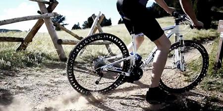 没有气的自行车轮胎你用过没?
