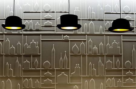经典的灯具还可以设计成圆顶的礼帽灯