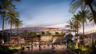 AECOM公布受篮网启发的洛杉矶快船体育场方案
