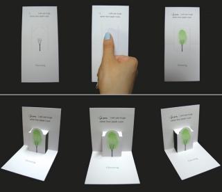 创意绿色承诺卡片设计