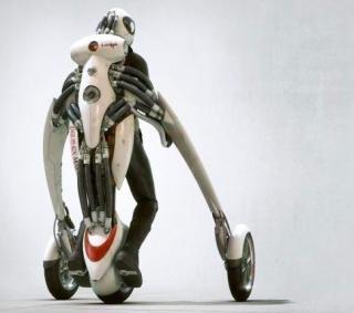 来自科幻CG动画中的设计——立式概念摩托车