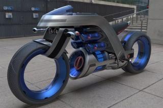 以戴森为灵感的概念摩托车