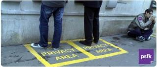 伦敦街头的ATM隐私地带标识