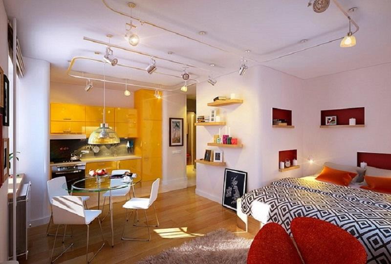 充满活力的的小公寓,现代的室内设计还可以秒变迪斯科舞厅