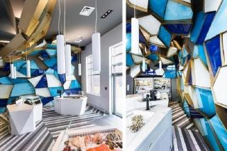 海鲜店该如何设计,这家鱼店的设计像是走进海洋世界