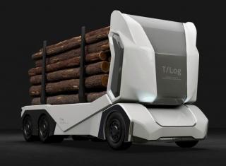 Enride T-log:专为运送原木而设计的电动卡车